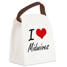 I love Midwives Canvas Lunch Bag