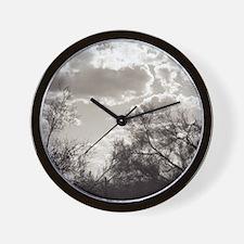 Brush Backlight Southwest Wall Clock