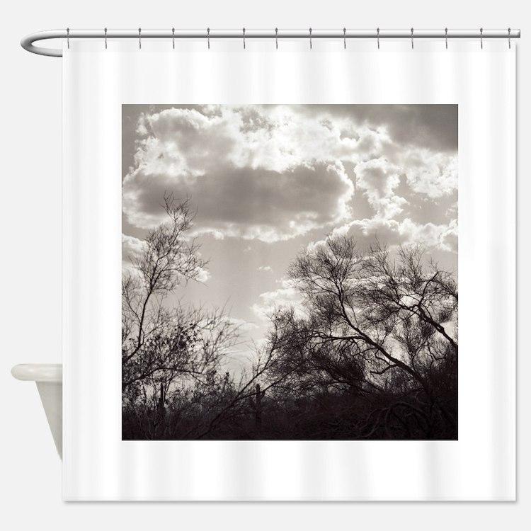 Brush Backlight Southwest Shower Curtain