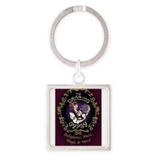 Cool Gypsy Square Keychain