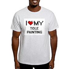 I Love My Tole Painting Digital Retro Desi T-Shirt