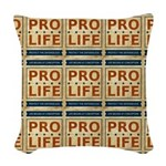 Pro Life Woven Throw Pillow