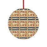 Pro Life Round Ornament
