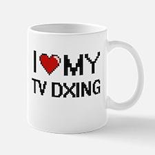 I Love My Tv Dxing Digital Retro Design Mugs