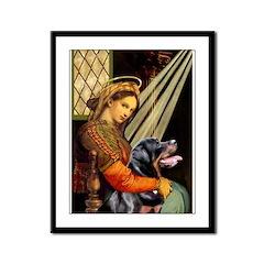 Madonna/Rottweiler Framed Panel Print