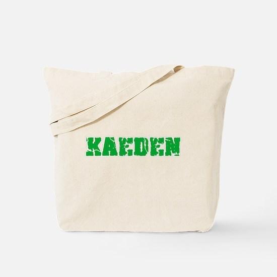 Kaeden Name Weathered Green Design Tote Bag