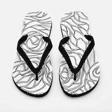 Deconstructed Rose Flip Flops