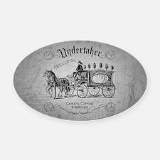 Undertaker Vintage Style Oval Car Magnet