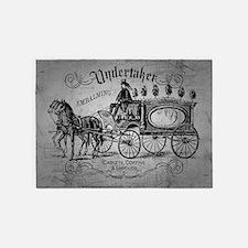 undertaker vintage style 5x7area rug - Halloween Rugs