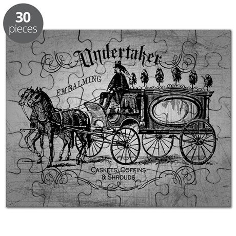 Undertaker Vintage Style Puzzle by opheliasart