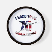 American 70th Birthday Wall Clock