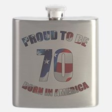 American 70th Birthday Flask