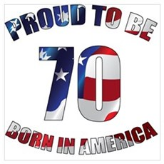 American 70th Birthday Poster