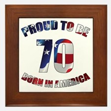 American 70th Birthday Framed Tile