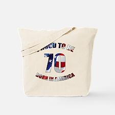 American 70th Birthday Tote Bag