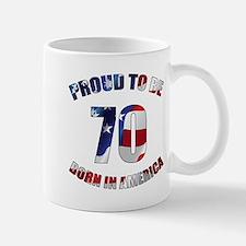 American 70th Birthday Mugs