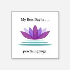 Best Day Lotus Yoga Gifts Sticker