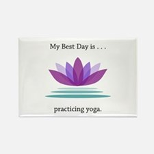 Best Day Lotus Yoga Gifts Magnets