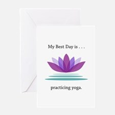 Best Day Lotus Yoga Gifts Greeting Cards