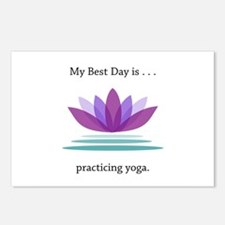 Best Day Lotus Yoga Gifts Postcards (Package of 8)