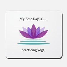 Best Day Lotus Yoga Gifts Mousepad