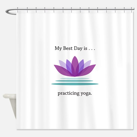 Best Day Lotus Yoga Gifts Shower Curtain