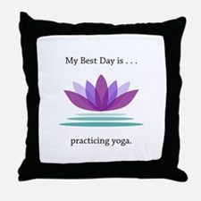 Best Day Lotus Yoga Gifts Throw Pillow