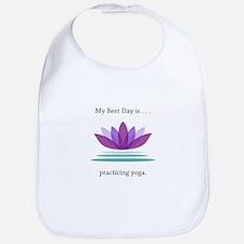 Best Day Lotus Yoga Gifts Bib