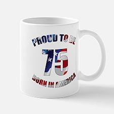 American 75th Birthday Mugs