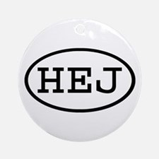 HEJ Oval Ornament (Round)