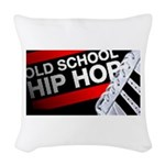 old school hiphop Woven Throw Pillow