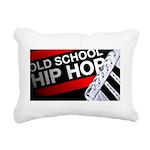 old school hiphop Rectangular Canvas Pillow