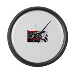 old school hiphop Large Wall Clock