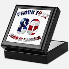 American 80th Birthday Keepsake Box