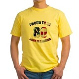 80th birthday Mens Yellow T-shirts