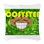 THE GREEN MONKEY.JPG Woven Throw Pillow