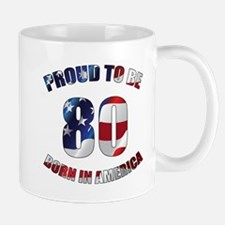 American 80th Birthday Mugs