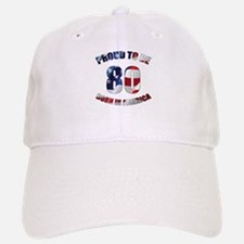 American 80th Birthday Baseball Baseball Cap