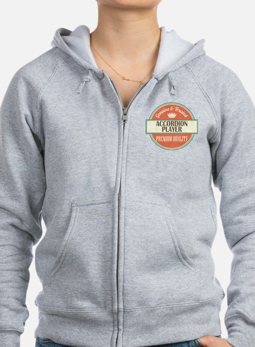 Accordion Player Zip Hoodie
