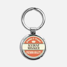 Account Manager Round Keychain