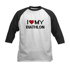I Love My Biathlon Digital Retro D Baseball Jersey