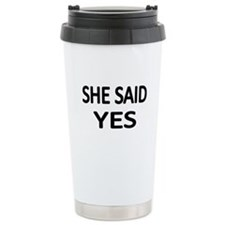Cute Engagement Travel Mug