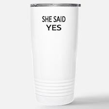 Funny Engagement Travel Mug