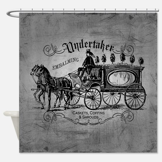 Undertaker Vintage Style Shower Curtain