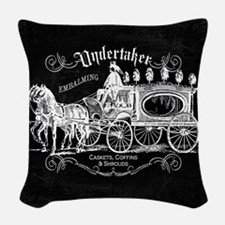 Undertaker Vintage Style Woven Throw Pillow