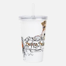 Fox Terrier Halloween Acrylic Double-wall Tumbler