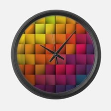 Colorblock Large Wall Clock