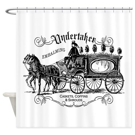 Undertaker Vintage Style Shower Curtain by opheliasart