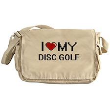 I Love My Disc Golf Digital Retro De Messenger Bag