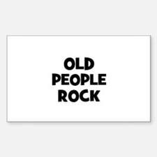 Old People Rock Rectangle Decal